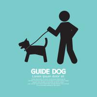 Guide Dog Graphic Symbol Vector Illustration