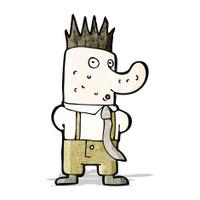 cartoon ugly man