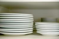 Stacks of White Plates