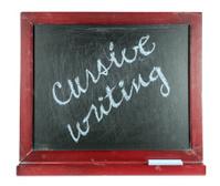 Slate with Words ... cursive writing