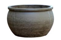 Large, empty, terracotta pot