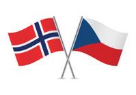 Czech and Norwegian flags. Vector.