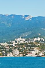 view of Yalta city on Black Sea