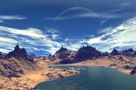 3d rendered fantasy alien planet