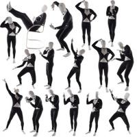 man mime pose posing