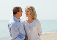 mature couple at sea vacation