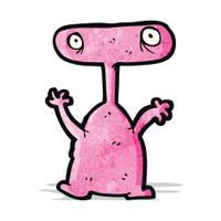 cartoon weird alien monster