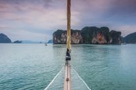Nautical Scene Sailing Boat