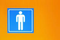 Sign of men's toilet
