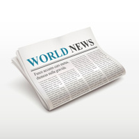 world news words on newspaper