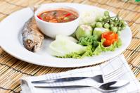 Chili paste with fried mackerel