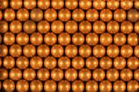 Air gun ball bullets rows