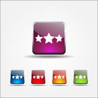 3 Star Colorful Vector Icon Design