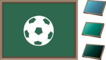 Soccer ball Blackboard