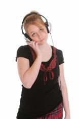 Teen with headphones