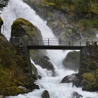 Briksdal Water Fall and Bridge