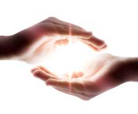 light in hands