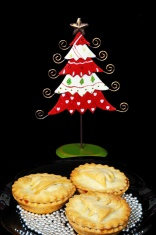 Mince pies and Christmas tree.