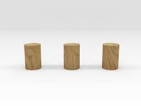 Three wooden blocks