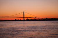 Sunset the Ambassador Bridge