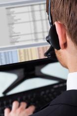 Call Center Representative Wearing Headset