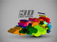 3d Multi-colour element