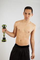 Hispanic man working out