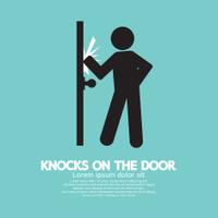 Graphic Of Single Man Knocks on The Door