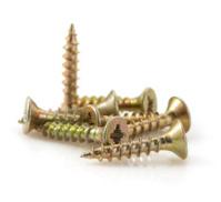metal screws tool on white