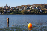 harkort lake in front of wetter ruhr germany
