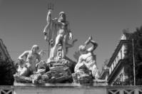 Fountain of Neptune in Rome, Italy.
