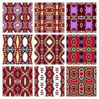 set of different violet colour seamless vintage geometric