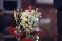 champagne wedding bouquet