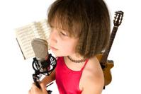 Girl sings