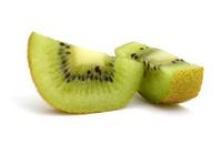 two slices of kiwi
