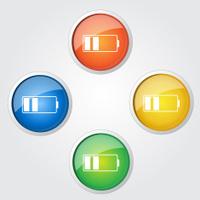Battery Colorful Vector Icon Design