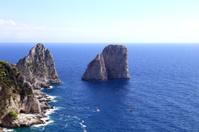 Gorgeous landscape of famous faraglioni rocks on Capri island, I