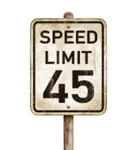 Vintage American speed limit 45 mph road sign_vector illustratio