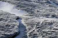 Frost and snow at the summit