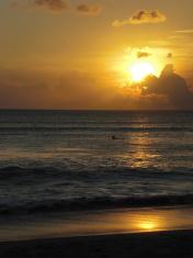 sundown scenery at Bali