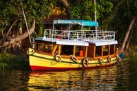 Boat on Kerala backwaters. Kerala, India