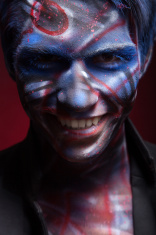 creepy portrait of a halloween man