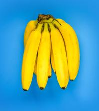 Yellow banana bunch