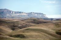 Autumn landscape in the mountains of North Caucasus