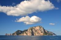 Picturesque summer landscape of capri island, Italy
