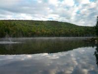Lake in beggining of autumn