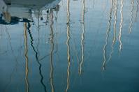 reflection of masts