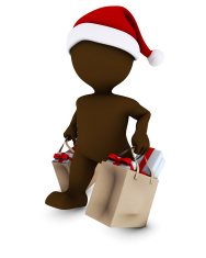 Morph Man with shopping bags
