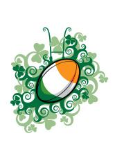 Rugby Ball Emblem Ireland