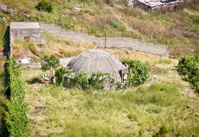 Concrete bunker In Gjirokaster region, Albania.